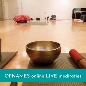 Online live meditaties